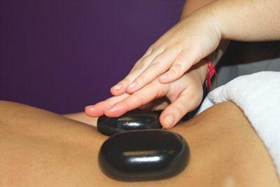 masaje de piedras