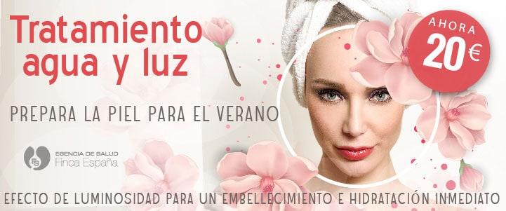 Oferta tratamiento facial higiene limpieza agua y luz