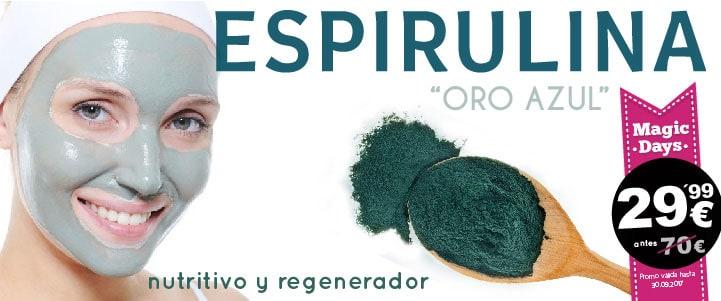Tratamiento facial con algas espirulina en oferta promo esencia de salud finca españa