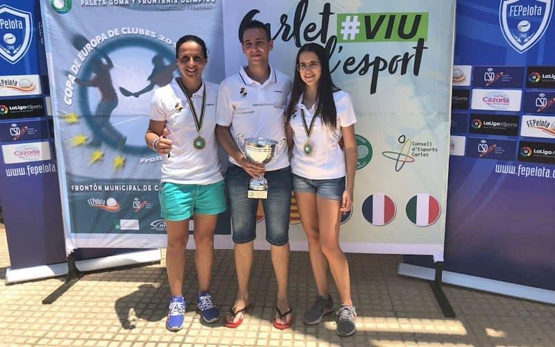 Izaskun Hernando y Mónica Hernández_ campeonas de Europa de frontenis