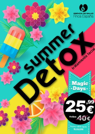 oferta tratamiento detox facial verano
